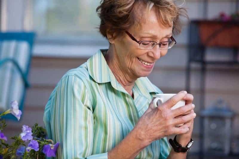 enjoying chatting in older age